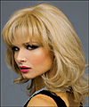 Envyhair wig Danielle, Mono top wig (color shown vanilla butter)