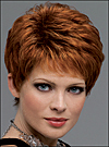 Envyhair wig Heather, Mono top lace front hand-tied sides and back wig (color shown lighter red)