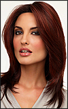 Envy Full Hand-tied Wig Roxie (color shown dark red)