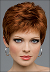 Envy mono top with lace front wig Jeannie, (color shown lighter red)