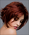 Envy mono top with lace front wig Angie, (color shown dark red)