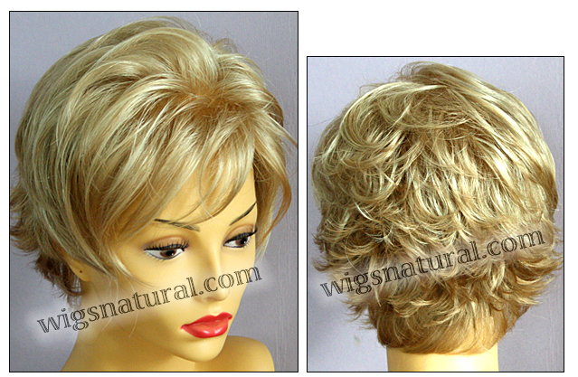 Envy mono top with lace front wig Micki, color shown medium blonde