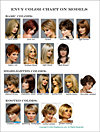 Envy Wig Color Chart - on real models