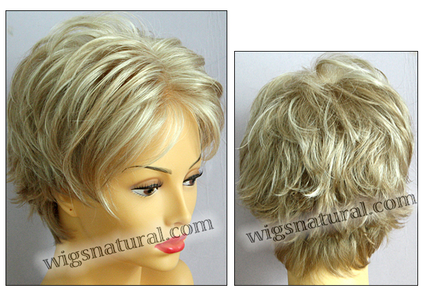 Envy mono top with lace front wig Micki, color shown light blonde