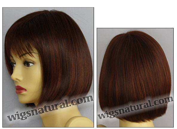 Envy open top wig Scarlett, color shown dark red
