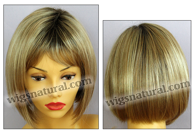 Envy open top wig Scarlett, color shown sparkling champagne