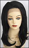 Lace Front Wig, BOBBI BOSS Front Lace Wig MHLF-B, Premium Human Hair, color #1