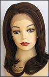 Lace Front Wig, BOBBI BOSS Front Lace Wig MHLF-B, Premium Human Hair, color #4