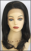 Lace Front Wig, BOBBI BOSS Front Lace Wig MHLF-B, Premium Human Hair, color F1B/30
