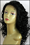 Lace front wig, BOBBI BOSS Lace Front Wig MHLF-F, Premium virgin REMY human hair, color #1