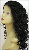 Lace front wig, BOBBI BOSS Lace Front Wig MHLF-F, Premium virgin REMY human hair, color 1B