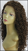 Lace front wig, BOBBI BOSS Lace Front Wig MHLF-G, Premium virgin REMY human hair, color #4