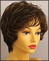 Envyhair wig Aubrey, Mono top hand-tied sides and back wig, color shown medium brown