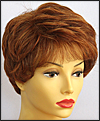 Envyhair wig Heather, Mono top lace front hand-tied sides and back wig, color shown lighter red
