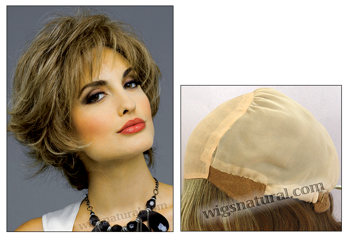 Envyhair wig Kylie, Mono top hand-tied sides and back wig (color shown almond breeze)