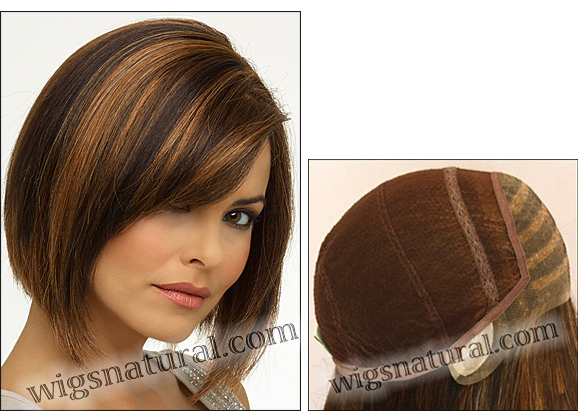 Envy Full Hand-tied Wig Kimberly (color shown chocolate caramel)