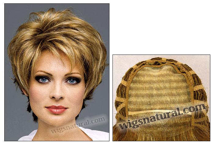 Envy mono top with lace front wig Micki, (color shown dark blonde)