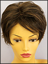 Envy mono top with lace front wig Micki, color shown medium brown