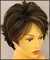 Envy mono top with lace front wig Micki, color shown amaretto cream