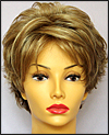 Envy mono top with lace front wig Micki, color shown dark blonde