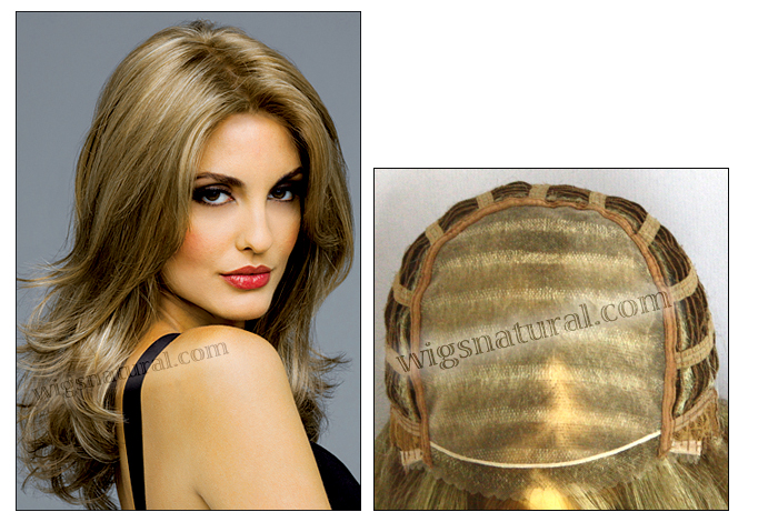 Envy mono top with lace front wig Bobbi, (color shown mocha frost)