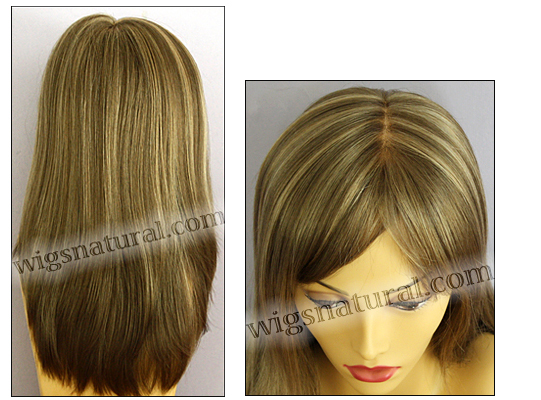 Envy mono top wig Madison, color shown mocha frost