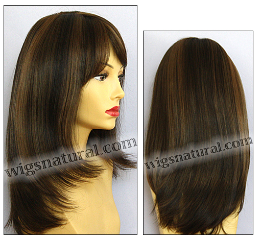 Envy mono top wig Madison, color shown medium brown