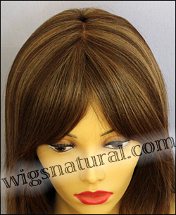 Envy mono top wig Madison, color shown light brown