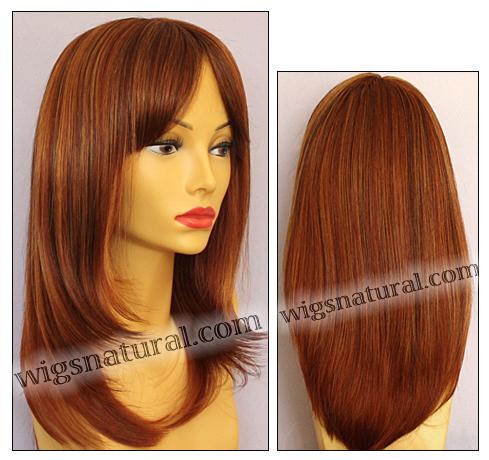 Envy mono top wig Madison, color shown lighter red