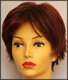 Envy mono top wig Genny, color shown dark red