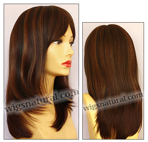 Envy mono top wig Madison, color shown cinnamon raisin