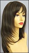 Envy mono part wig Leyla, color shown medium brown