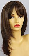 Envy mono part wig Leyla, color shown cinnamon raisin