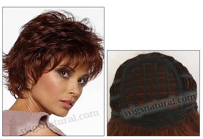 Envy open top wig Alyssa (color shown dark red)