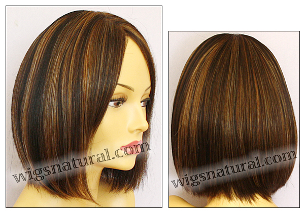 Envy Full Hand-tied Wig Kimberly, color shown chocolate caramel