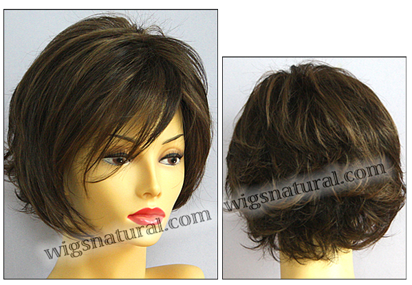 Envy mono top with lace front wig Angie, color shown medium brown
