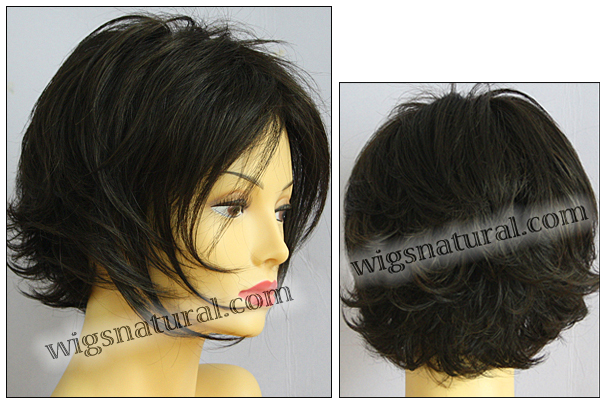 Envy mono top with lace front wig Angie, color shown dark brown