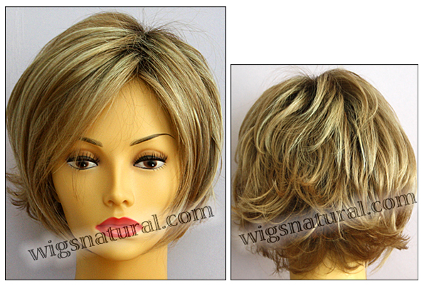 Envy mono top with lace front wig Angie, color shown sparkling champagne