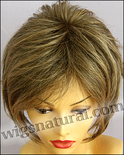 Envy mono top with lace front wig Angie, color shown frosted