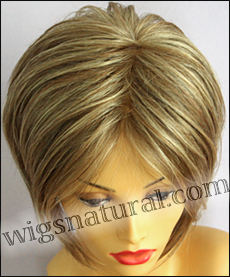Envy mono top with lace front wig Angie, color shown dark blonde