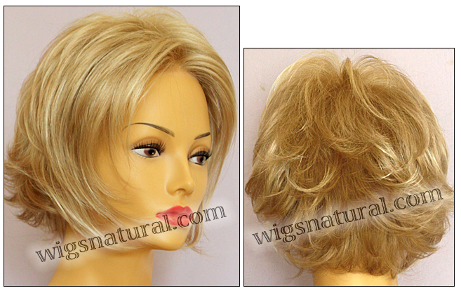 Envy mono top with lace front wig Angie, color shown medium blonde