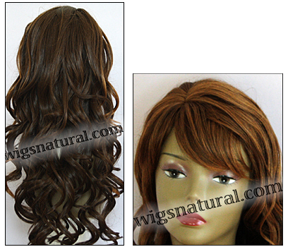 Human hair blend wig HB CREATIVE, SEPIA Love it wig collection, color H27/4/30
