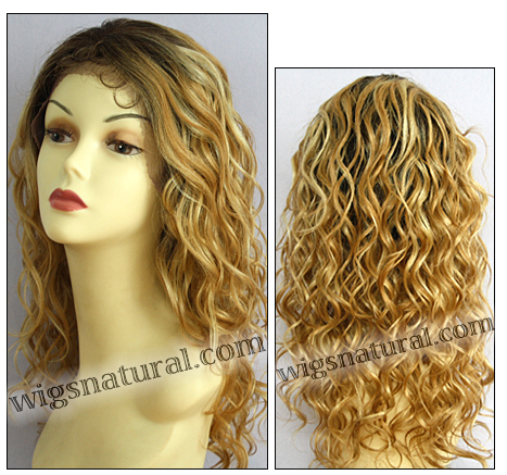 Lace front wig HRH-LACE WIG ONYX, Sister Remy human hair lace wig, color H27/613/4