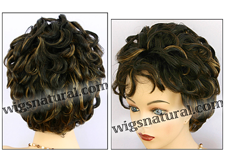 Human hair wig MH1169, BOBBI BOSS wig collection, color F1B/27