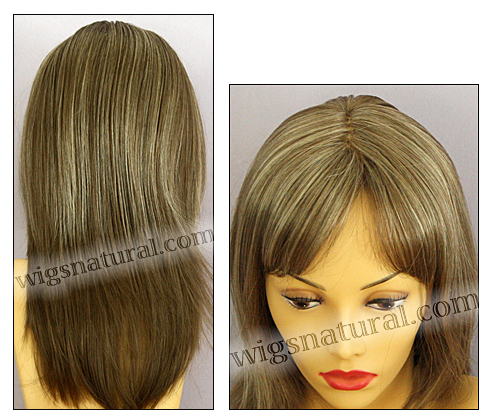 Envy mono part wig Leyla, color shown almond breeze