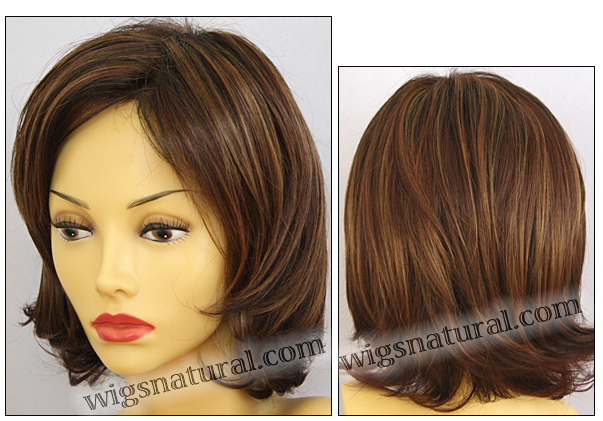 Envy mono top with lace front wig Taylor, color shown cinnamon raisin