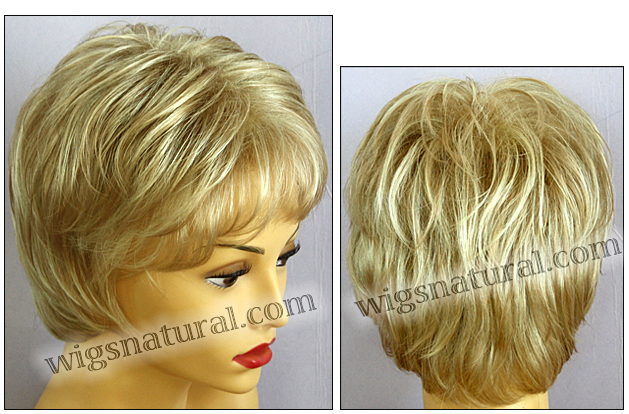 Envy open top wig Elle, color shown medium blonde