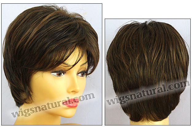 Envy open top wig Elle, color shown medium brown
