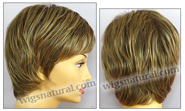 Envy open top wig Elle, color shown frosted