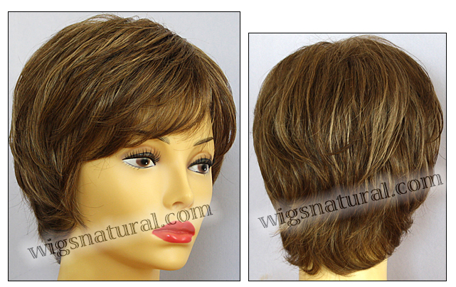 Envy open top wig Elle, color shown light brown